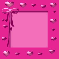 Free Pink Hearts Frame Royalty Free Stock Images - 5143299
