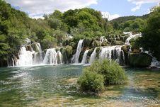 Free Krka Waterfall Royalty Free Stock Image - 5143316