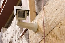 Free Picture Of A Security Camera, Stock Photo Stock Image - 5143711