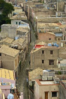 Free Medieval Street In Erice Stock Photography - 5143982