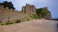 The Castle Of Erice Stock Photo