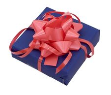 Free Gift Box On White Royalty Free Stock Images - 5144269