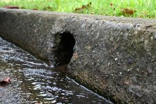 Free Drainhole And Gutter Stock Photography - 5144852