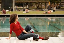 Relaxing Young Woman Royalty Free Stock Images