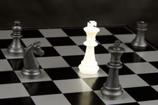 Chess Pieces On Board Royalty Free Stock Photography