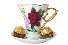 Free Cup Of Tea And Sweeties. Royalty Free Stock Photography - 5145537