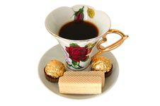 Free Cup Of Tea And Sweeties. Royalty Free Stock Image - 5145666