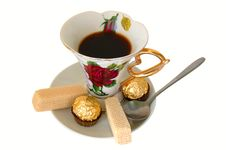 Free Cup Of Tea And Sweeties. Royalty Free Stock Image - 5145676