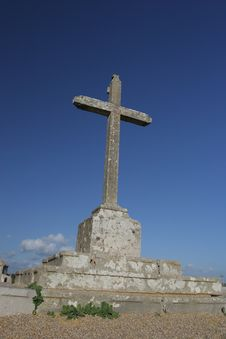 Free Big Cross Isolated In Blue Sky Stock Photo - 5145750