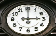 Old Wooden Clock Face Royalty Free Stock Photos