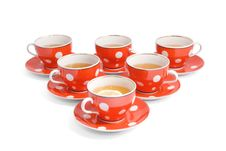 Free Teacups On The White Backround Royalty Free Stock Photos - 5146358