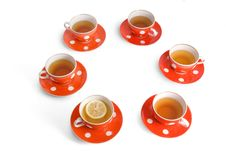 Free Teacups On The White Backround Royalty Free Stock Images - 5146369