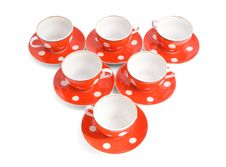 Free Teacups On The White Backround Royalty Free Stock Photo - 5146435