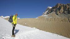 Free Panoramic View Of Trekker In The  Annapurnas, Royalty Free Stock Image - 5146556
