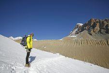 Free Panoramic View Of Trekker In The  Annapurnas, Stock Photography - 5146562