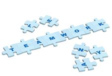 Free Word Teamwork From Slices Of A Puzzle Stock Images - 5146624