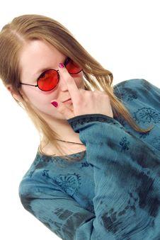Free Hippie Girl Royalty Free Stock Photos - 5147098