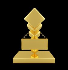 Free Golden Statuette Royalty Free Stock Image - 5148006