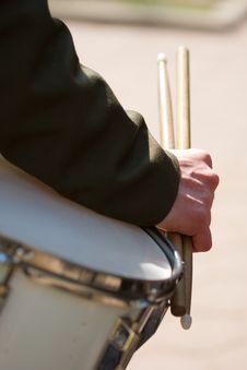 Drummer�s Hand Holding Drumsticks
