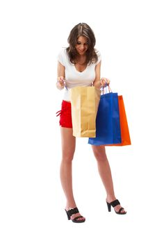 Free Shopping Woman Royalty Free Stock Photography - 5148387