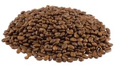 Free Coffee Beans On White, Isoalted Royalty Free Stock Photo - 5148545