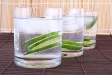 Free Ice Water With Lime Stock Photo - 5148630