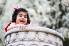 Free Girl In A Flower Pot Royalty Free Stock Images - 5148639