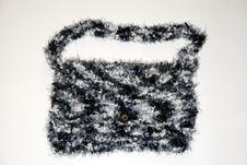 Black And White Shoulder Bag Stock Image