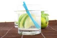 Free Ice Water With Lime Stock Photos - 5148893