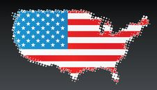 Free USA Modern Halftone Map Design Element Stock Photo - 5149170