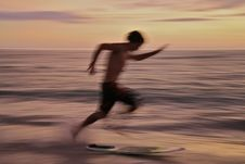 Free Surfer On Beach Stock Photos - 5149393