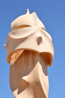 Free Abstract Sculptures On The Roof La Pedrera (Milà H Stock Images - 5149444