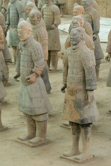 Free The Terracotta Warriors Royalty Free Stock Image - 5149506