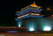 Free Southern Gate At Night Royalty Free Stock Photo - 5149515