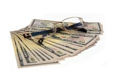 Free Lot Of Dollars And Glasses Royalty Free Stock Images - 5149819