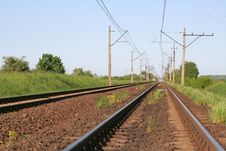 Free Railway Tracks Royalty Free Stock Photo - 5149885
