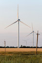 Free A Wind Farm In The Wide Spread Field Stock Photography - 51449992
