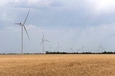Free A Wind Farm In The Wide Spread Field Royalty Free Stock Images - 51449839
