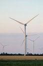 Free A Wind Farm In The Wide Spread Field Stock Photo - 51450000