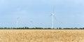 Free A Wind Farm In The Wide Spread Field Stock Photo - 51450300
