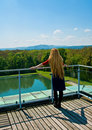 Free Back Of Blond Woman Contemplating High View Royalty Free Stock Images - 5154879