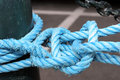 Free Detail Of A Blue Rope Royalty Free Stock Photography - 5157287