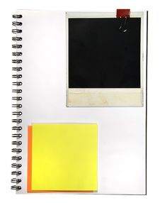 Free Notepad With Memo And Camera Frame Royalty Free Stock Photo - 5150475