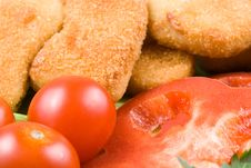 Free Chicken Nuggets With Vegetables Stock Image - 5151151