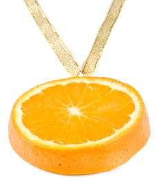 Free Medal From A  Juicy Orange. Stock Photos - 5151463