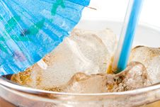 Cold Fizzy Cola With Ice Royalty Free Stock Photo