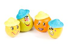 Free Cheerful Little Men From A Fresh Fruits Royalty Free Stock Images - 5151489