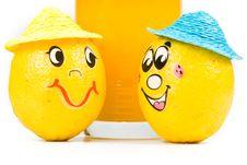 Free Cheerful Little Men From Lemon Stock Images - 5151494