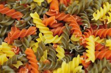 Free Colored Italian Pasta Royalty Free Stock Image - 5151826