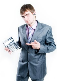 Free Disappointed Businessman Showing Zero Stock Photography - 5152572